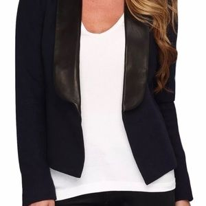 Joe's Jeans Wool Jacket with Leather Collar